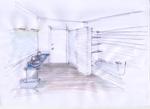 specchia schizzo bagno